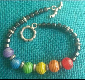 SILVER HEMATITE CHAKRA /RAINBOW ENERGIZER BRACELET for Sale in Lincolnwood, IL