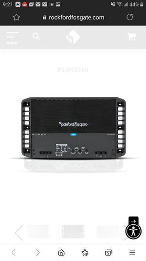 Rockford fosgate punch p1000.1bd amplifier for Sale in Hayward, CA