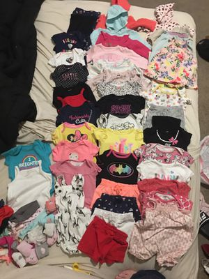Baby girls clothes 3-6 months like new over 50 pieces for Sale in North Las Vegas, NV