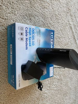 TP link cable modem model TC-7620 for Sale in Tustin, CA