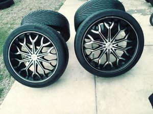 RIMS 295/35R24...5 LUGS UNIVERSAL FIT FORD F150 FORD EXPEDITION..DODGE RAM 1500 DODGE DAKOTA DODGE DURANGO for Sale in Glendale, AZ
