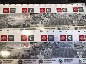 2 - Ohio State Season Tickets (A Deck) for Sale in Shawnee Hills, OH