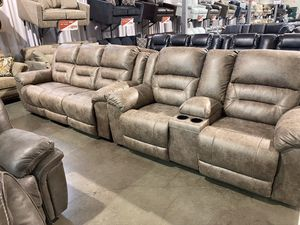 2Pc Reclining Sofa and Love Seat Set for Sale in Portland, OR