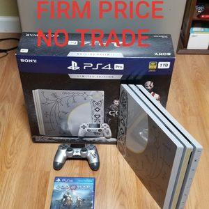 PS4 PRO GOD OF WAR Ed. BUNDLE, FIRM PRICE, NO TRADE, GOOD CONDITION, READ DESCRIPTION FOR DETAILS for Sale in Santa Ana, CA