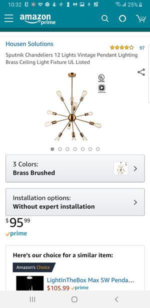 C36 - Sputnik 12 Lights Brass for Sale in Orange, CA