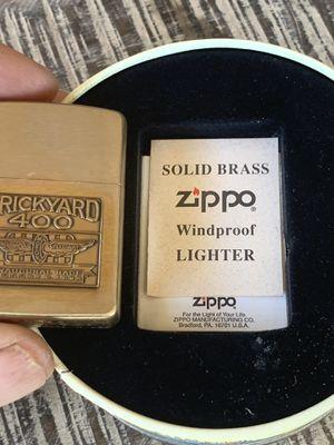 1994 brickyard Indianapolis 400 motor speedway solid brass zippo for Sale in Yorba Linda, CA