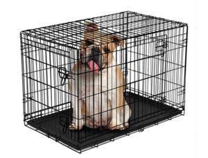 """Vibrant Life Double-Door Folding Wire Dog Crate with Divider, 36""""L for Sale in Hayward, CA"""