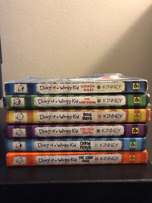 6 Diary Of Wimpy Kid books $25 for Sale in San Dimas, CA