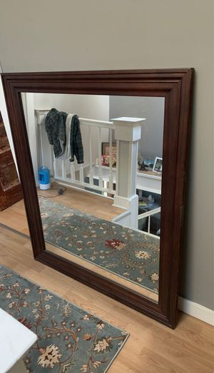 Solid wood large mirror for Sale in Smithfield, RI