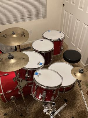 Gretsch Drum Set Zildjian Cymbals and Hardware for Sale in Maple Valley, WA