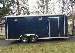 Good Condition/ 2O12 Haulmark Edge 8.5 x 20 Car Hauler/Enclosed Trailer/Motorcycle!! for Sale in Seattle, WA