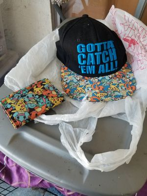 Pokemon snap back adults and wallet for Sale in San Diego, CA