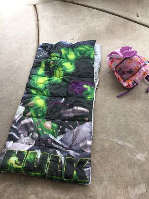 Boy and girl sleeping bags $10 for both for Sale in Fontana, CA