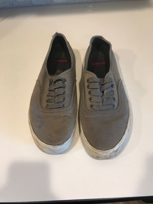 Levi's low gray sneakers men's 10.5 for Sale in Dallas, TX