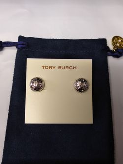 Tory Burch Silver Stud Earrings for Sale in Alexandria,  VA