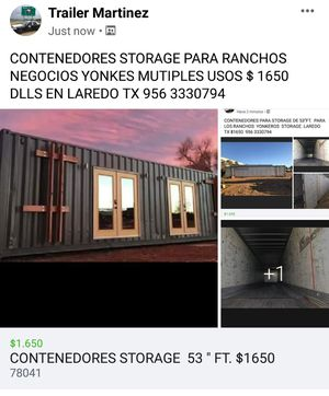 "CONTENEDORES STORAGE 53 "" FT $1650 for Sale in Laredo, TX"