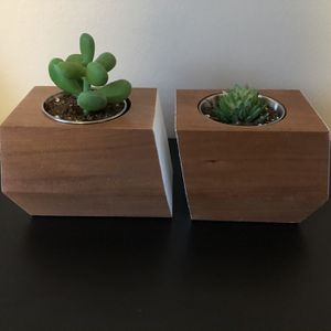 Handmade Succulent Planters Solid Cherry Wood for Sale in Palatine, IL