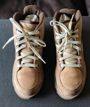 Nike-Rare, Vintage 2003 Nike Hi-Top Tan Men's US 7 Suede Contoured Footbed Hiking Boots Shoes for Sale in TN OF TONA, NY