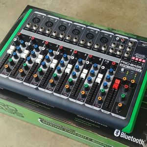 Brand new 12 channel mixer. Bluetooth. USB MP3 play back. Easy connection to your speaker and microphone. Los vendo nuevos. for Sale in Miami, FL