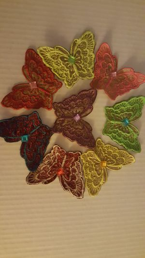 Cute Embroidery colorful butterfly . good for decoration dress woman and kids pick only my location zip code 89102 3 for $ 10 or one $ 3 for Sale in Las Vegas, NV
