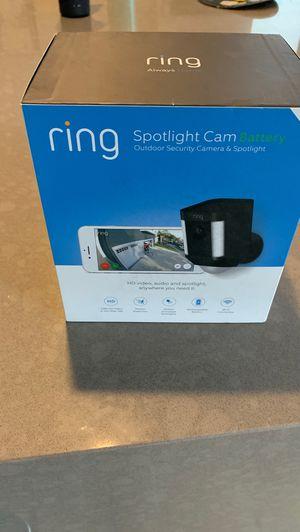 Black Ring Spotlight Cam NEW for Sale in Redmond, WA