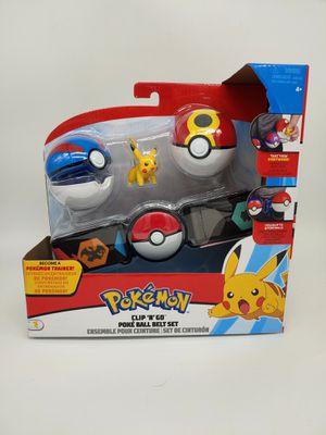 Wicket Cool Toys Pokemon Clip N Go Pikachu Poke Ball Belt Set Great Ball Repeat for Sale in Vallejo, CA