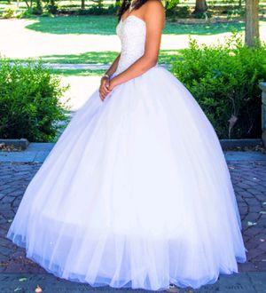 White wedding dress, quinceañera dress, ball gown for Sale in Philadelphia, PA