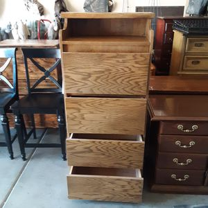 Beautiful dresser/cabinet/all wood..4 large drawers...57 by 25 for Sale in Sun City, AZ