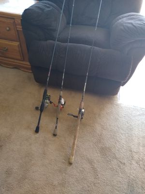 Various Fishing Rod and Reel Combos - Each for Sale in Oakdale, CA