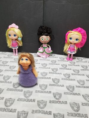 Ms.Piggy, Princess Pea, Little Charmers Dolls for Sale in Santa Ana, CA