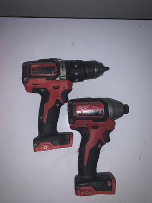 """M18 Milwaukee Brushless Motor 1/4 Hex Impact Driver & 1/2"""" Hammer Drill Driver Set for Sale in Peoria, AZ"""