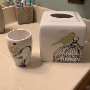 Ceramic Cup And Tissue Box Cover for Sale in Wilmington, DE