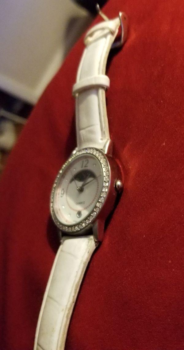 Womens white wrist watch
