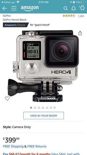 Selling with chest trap and hand grab accessories and waterproof case go pro camera for Sale in San Jose, CA