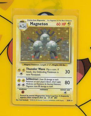 Pokemon: Magneton #9, Base Set Rare Holo, FN/VF + Build-Your-Own Booster!!! for Sale in Chesilhurst, NJ