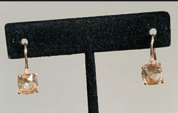 Morganite 14k Rose Gold Plated CZ Earrings