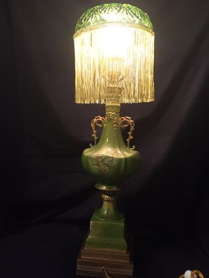 Vintage Granny Apple Green Hand Painted Lamp for Sale in Detroit, MI
