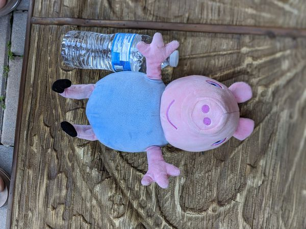 Like new Peppa Pig large GEORGE plush stuffed animal, talking toy doll