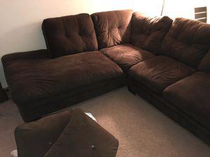 Dark brown sectional - reynoldsburg for Sale in Hilliard, OH