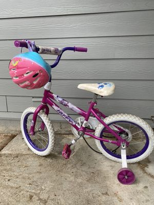Girls bike with helmet for Sale in Portland, OR