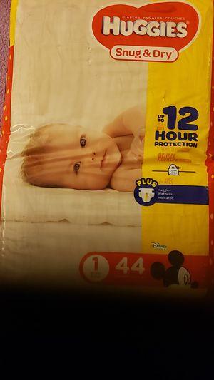 44 New Huggies Size 1 Diapers Snug & Dry for Sale in Santa Clara, CA