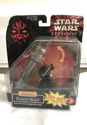 New in box - Star Wars Episode 1 - Deluxe Darth Maul Action Figure w/ lightsaber handle for Sale in Ontario, CA