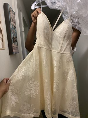 BRAND NEW, UNWORN Champagne/Ivory Cocktail Evening Prom Semi-formal Dinner Dress SZ Small for Sale in Chicago, IL
