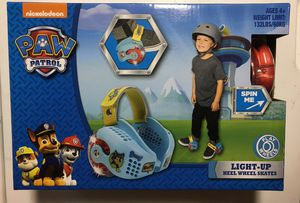 New Paw Patrol and Cars light up heel wheel skates for Sale in Salem, SD