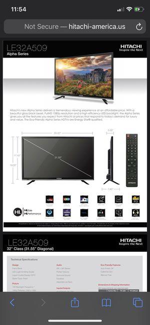 32 inch LCD TV 1080p HITACHI for Sale in Temple City, CA