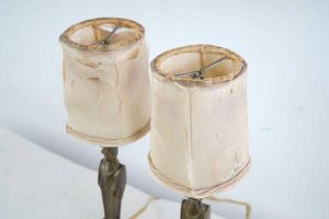 Pair of Antique French Bronze Boudoir Lamps for Sale in US