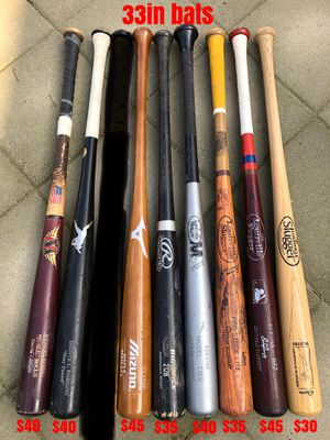 Baseball wood bats Louisville slugger marucci Rawlings easton equipment gloves bat for Sale in Los Angeles, CA
