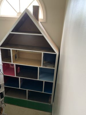 5ft tall by 3 ft wide custom built doll house 13 rooms for Sale in Dallas, GA