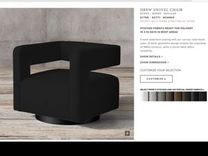 Restoration hardware swivel back chair for Sale in Hollywood, FL