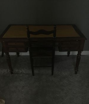 Wood desk & Chair for Sale in Nashville, TN